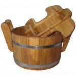 Håndlavet sauna spand m. låg